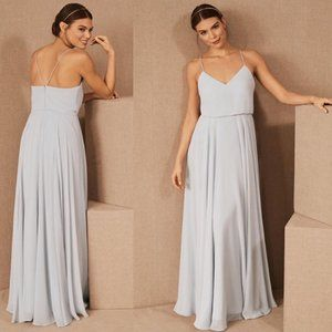 BHLDN Jenny Yoo Inesse Dress in Whisper Blue Sz 12